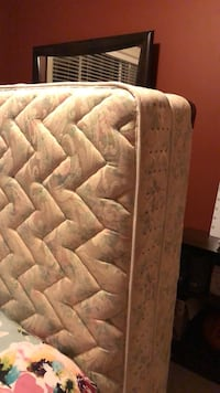tufted white and gray floral mattress 3691 km