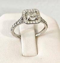 18k white gold 1.24ct. halo diamond engagement ring * Appraised at $8,900 Vaughan, L4J