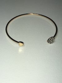 Gold Color Double Heart Adjustable Bracelet. Edmonton