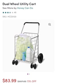 Dual Wheel Utility Cart carries up to 150 lbs. sold 4  $307 on Wayfair