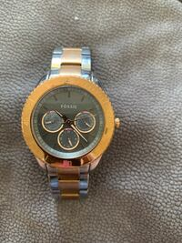 round gold-colored chronograph watch with link bracelet Punta Gorda, 33950