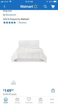 Feather and down king duvet. New!!!