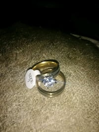 Size 7 titaniam steel with crystal stone's Wedding Sapulpa, 74066