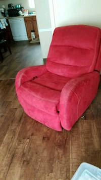 red suede recliner sofa chair Topeka, 66608