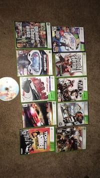 Assorted xbox 360 game cases Brighton, K0K 1H0