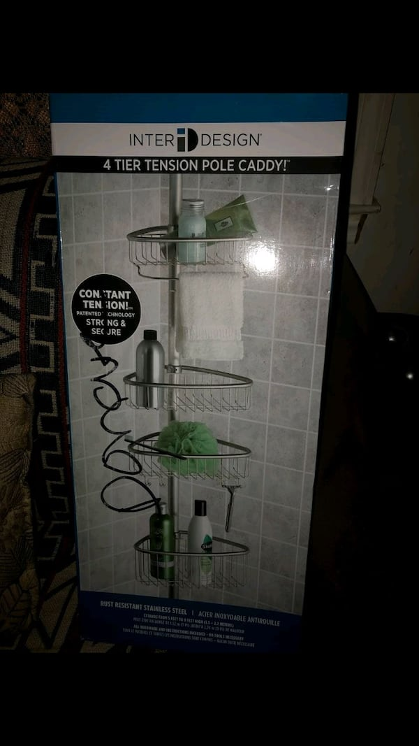 brand new interrior design bathroom shower caddy Asking for $30 or m  5fb075f9-f5a1-4374-8bc0-72a7068ac332