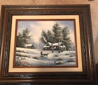 Winter scene Painting by Van Bell Woodbridge, 22192