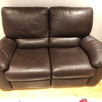 Reclining leather sofa Montreal, H8P
