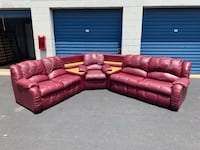 Leather Couch with Sleeper Fairfax, 22032