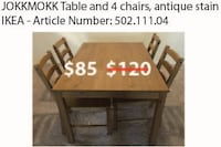 brown wooden table with chairs Dallas, 75206