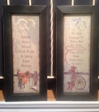 Pair of Cowboy framed Inspirational