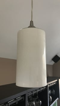 Set of 3 white glass pendent shades Bristow, 20136
