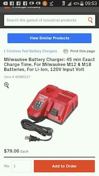 Milwaukee rapid Battery Charger  Los Angeles, 91343