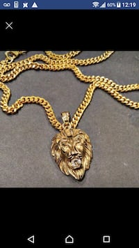 18k gold tone plated chain necklace set  Toronto, M1B 2W1