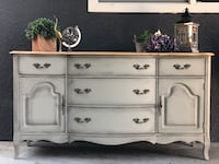 Beautiful French provincial walnut sideboard  Coquitlam, V3J 2S9
