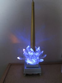Stunning Crystal Candle Holder and FREE Light-Up D