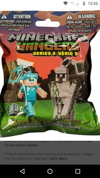 Iso Minecraft hanger keychains from series 1-5