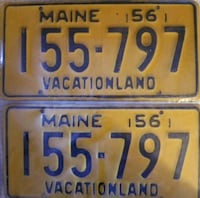 two white and blue license plates Henderson, 89011