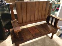 brown wooden bench and bench Burlington, 27217