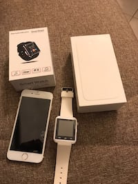 iPhone 6 gold + Smart watch