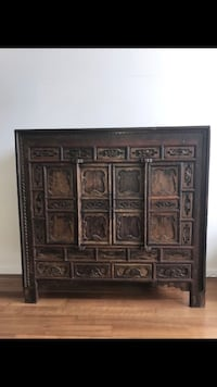 Chinese Antique Brown wooden cabinet with secret drawers San Diego, 92101