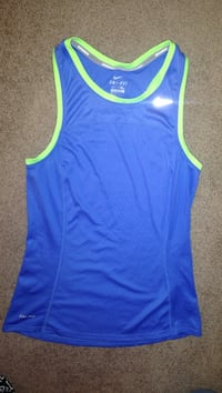 blue and green Nike dri-fit tank top