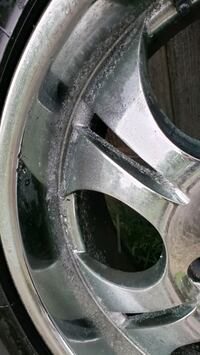 For Sale: Set of four Boss truck wheels and tires.