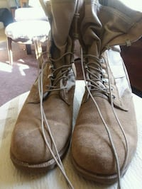 brown suede tactical boots Los Angeles, 90016