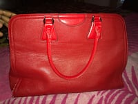 women's red leather tote bag Surrey, V3S 2E4