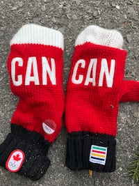 pair of red-and-white socks TORONTO