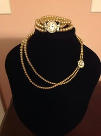 Vintage 2pc Pearl Jewelry Set