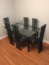 Glass dining table set with six chairs Mississauga, L5K