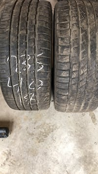 A pair of 235/40/18 good year