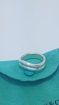 Tiffany & Co. 925 Spain Elsa Peretti Sterling Silver Ring - s8.5 VANCOUVER