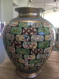 Brown and green floral ceramic vase Ormond Beach, 32174