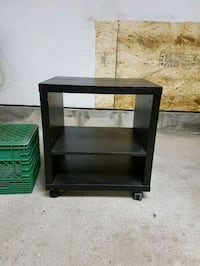 Rolling end table black