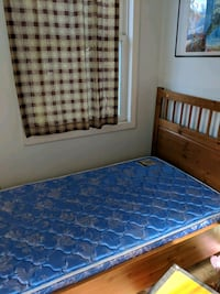Both mattress and bed frame is for sale.$30 each.  Falls Church, 22043
