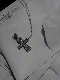 White gold-colored cross pendant necklace Harrisburg