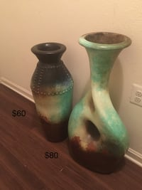 Green and brown vases. One is $80, the other one is $60 Mc Lean, 22102