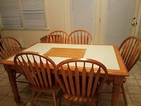 rectangular white and brown wooden dining table set Hagerstown