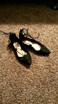 Black lace-up flats  Calgary, T3E 5B2