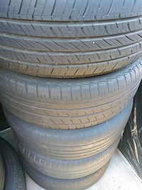 7 tires 195/65/15 with steel wheels 5x112 Torrance, 90504