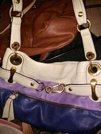 women's brown and white leather shoulder bag Albuquerque, 87123