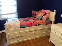 Child's bedroom set- pottery barn. Under bed storage. Night tables plug into outlet and have power srrip for computer, light, phone charger, etc  Rockville Centre, 11570