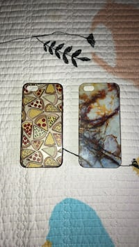 two brown and marble iPhone cases