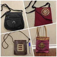 Assorted purses - prices as marked