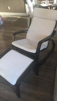 white padded brown wooden armchair Toronto, M9B 0A1