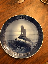 Royal Copenhagen plate, 1962, the little mermaid Manassas, 20112