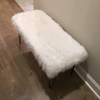 Trendy fur bench in white with black legs Baton Rouge, 70810