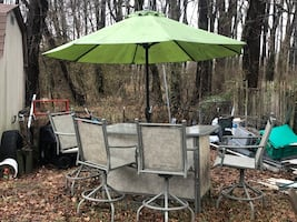 Outdoor bar patio set